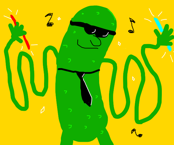 Cucumber with Floppy Arms is FABULOUS.