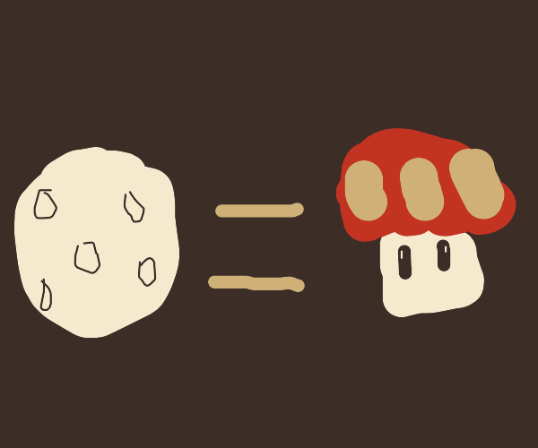 the moon is a mushroom