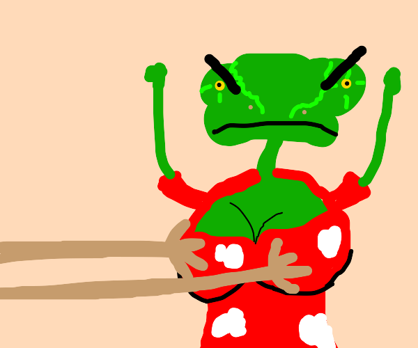 guy tryes to grab anime tiddies but its Rango