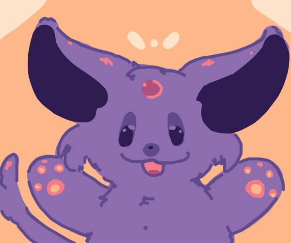Big purple pokemon wants to give you a hug