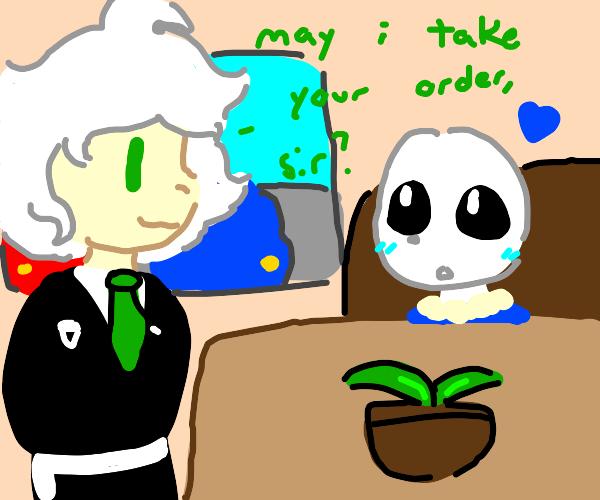 Sans loves Waiter Nagito Komaeda