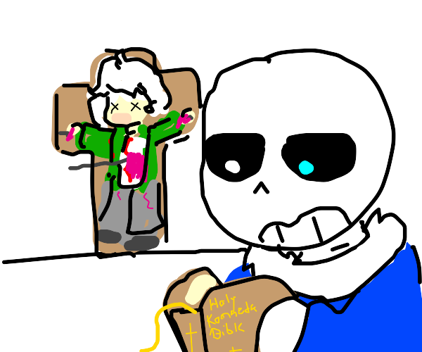 sans reads the holy komaeda bible