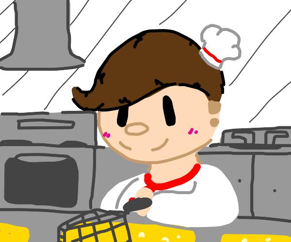 Teru Teru cooking (deep frying??? Heheh)