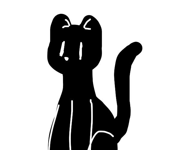somewhat emblematic black cat