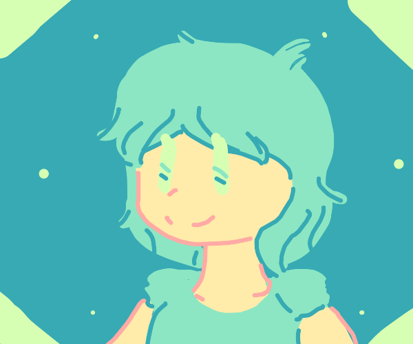 girl with green eys