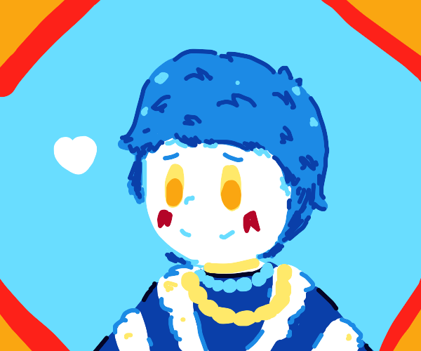 Blue Anime Kid