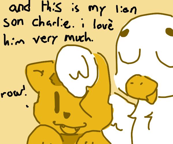 a bird has a lion son