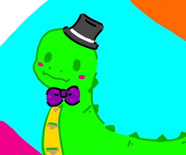 Cute green dino