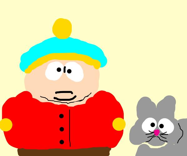 Eric Cartman and a cat