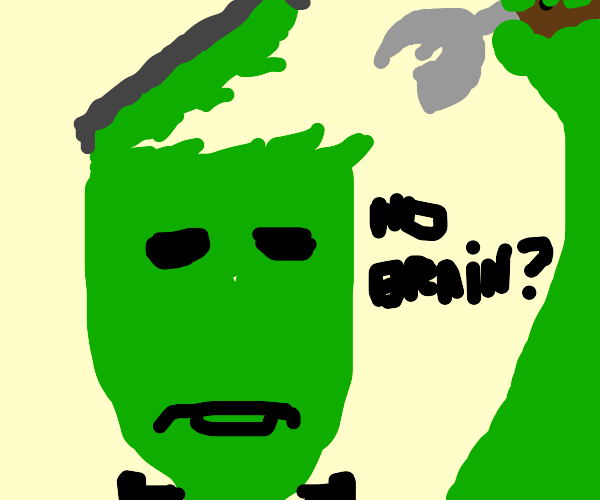 Frankenstein's monster doing surgery
