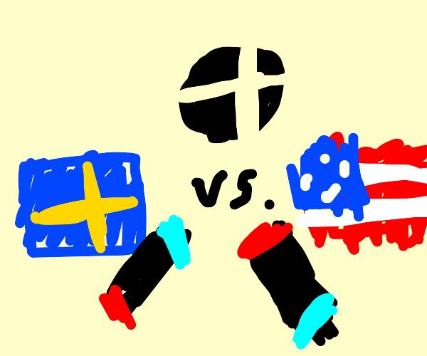 Sweden freaking smashing America