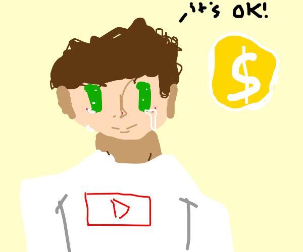 YouTuber pretends demonitization is ok
