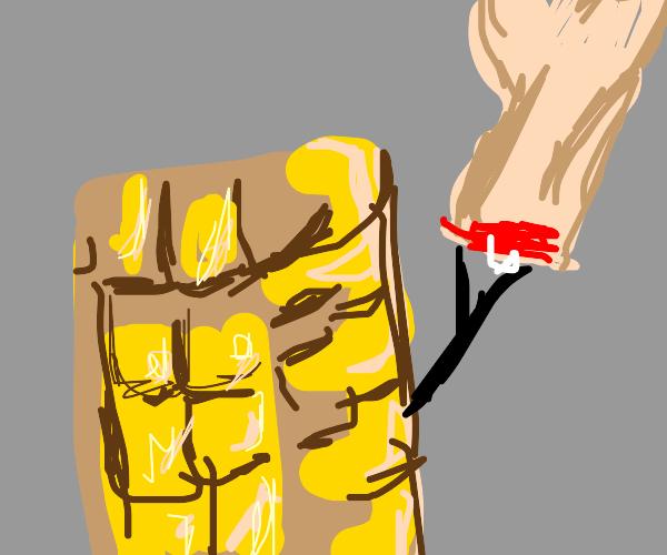 Wacky magical corn has stolen a human hand!