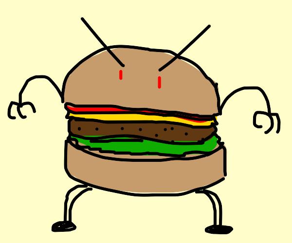 angry burger-man