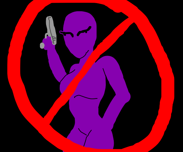 say NO to cute purple girls with guns!!!!