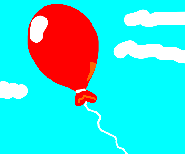 Red balloon be floating