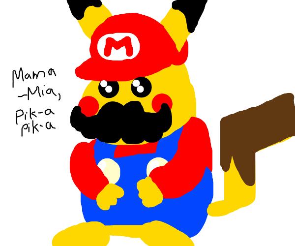 Mario became a Pikachu.