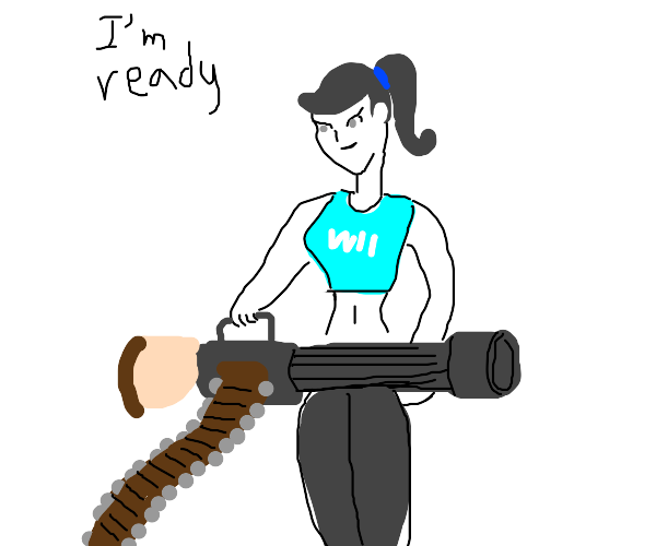 Wii Fit Trainer is ready for battle