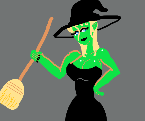 T H I C C  Witch holding a broom