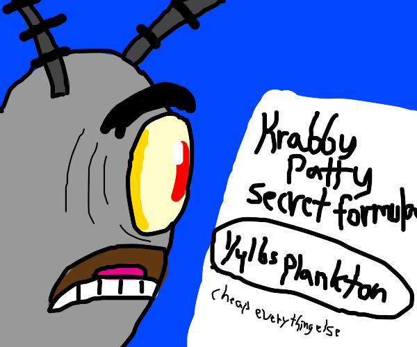 Plankton has the formula