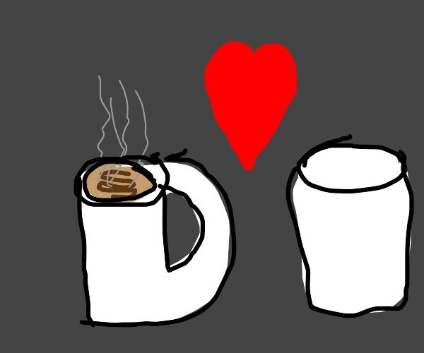 Coffee likes Marshmallow