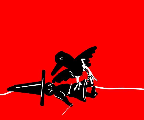 Crow kills a witch