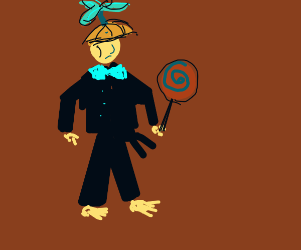 Kid in a tuxedo and propeller hat