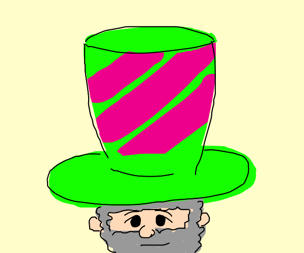 Man with large Neon Tophat