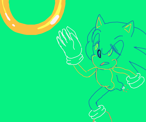 sonic loses a leg but still wants ring