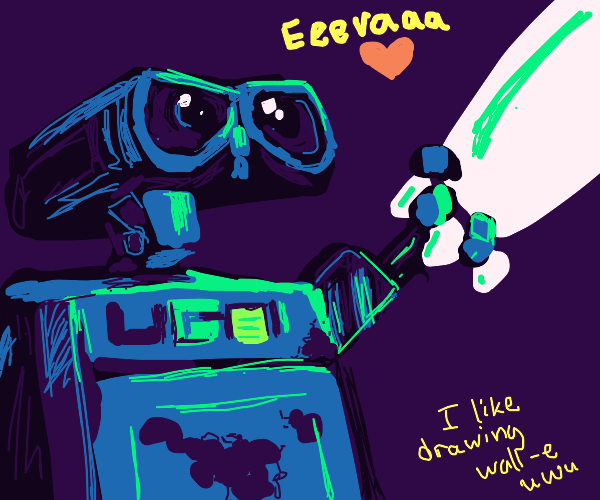 Wall-E and Eve share a romantic night