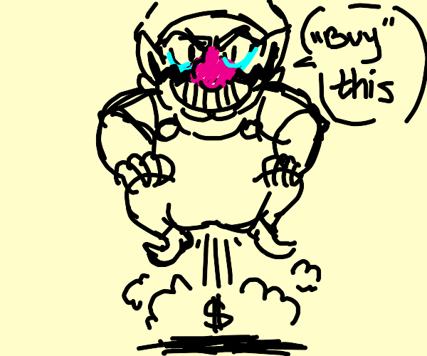 wario flying buy farts coming out of his butt