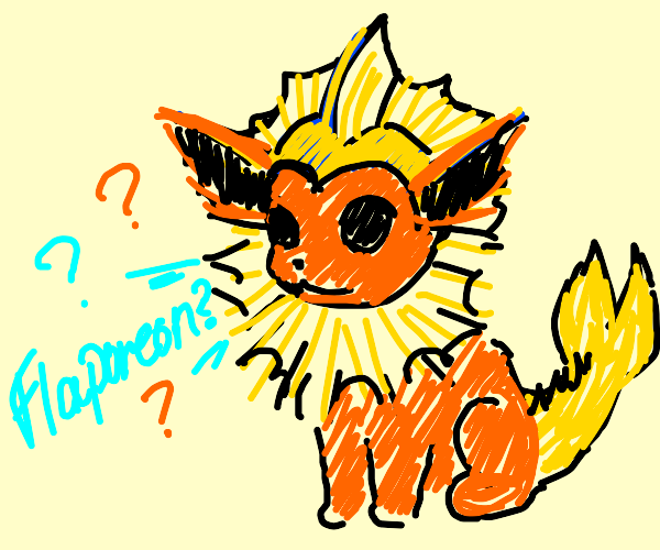 Flareon finds out its actually a vaporeon