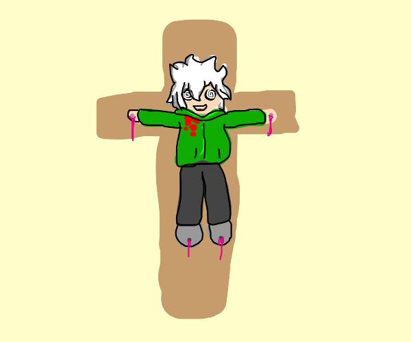 Nagtio Komaeda is crucified withquote