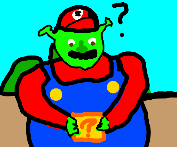 Shrek as an Italian plumber