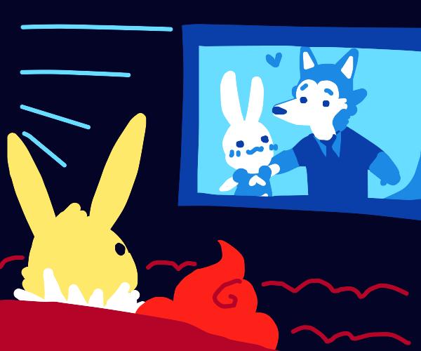 Jolteon watches Beastars