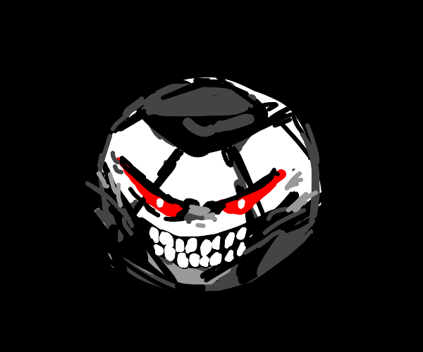 Evil soccer ball