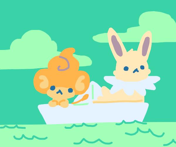 2 little pokeMEN in a boat.