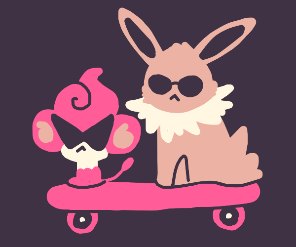 Pansear and Jolteon are epic sk8r dudes