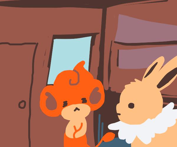 """""""Eevee. Where's the door hole?"""""""