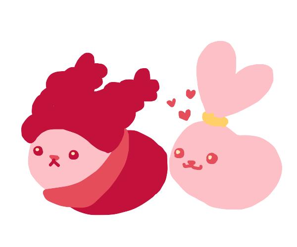 Chowder and panini as cute beans