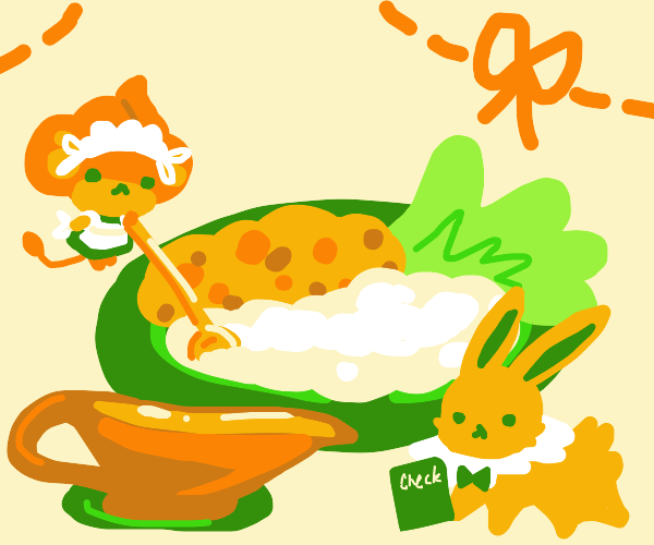 Pansear and Jolteon making dinner