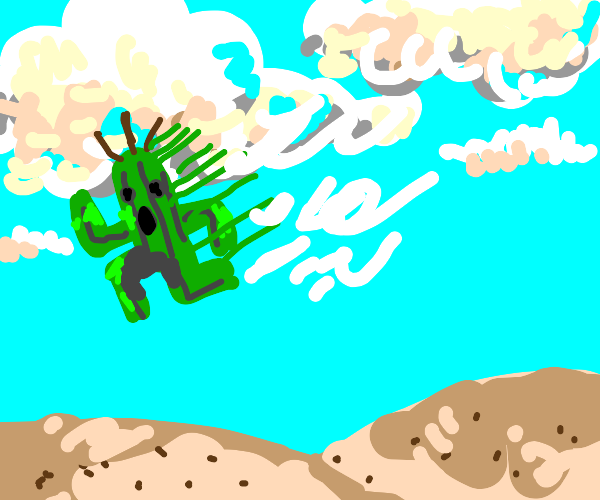 Cactuar falls from the sky