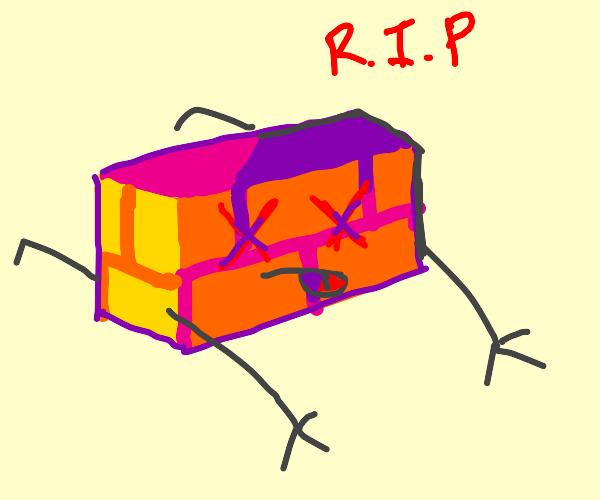 orange brick fcking dies