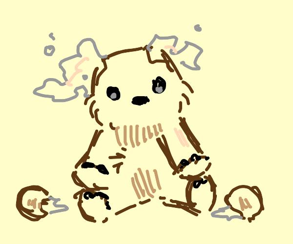 Teddy bear with no ears