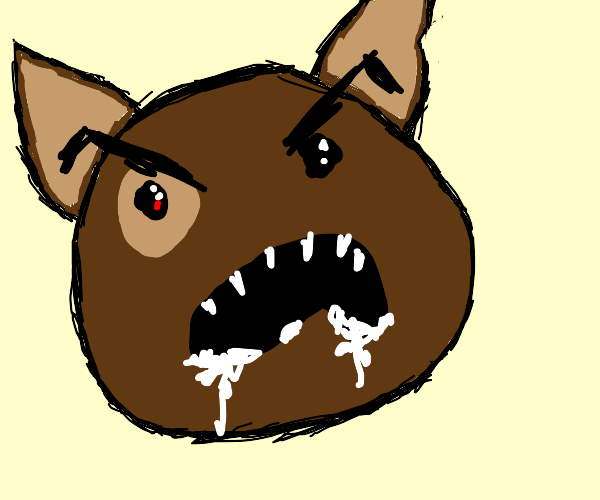 Rabid brown dog