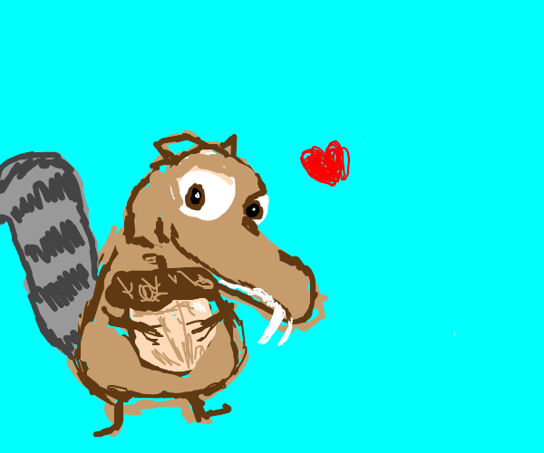scrat from ice age gets his acorn