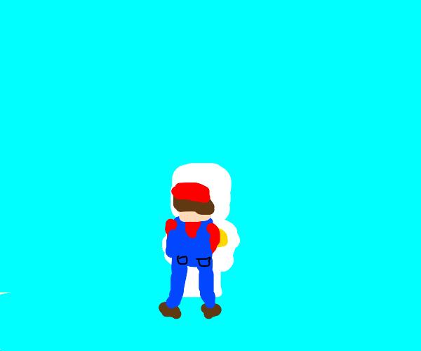 Mario peeing