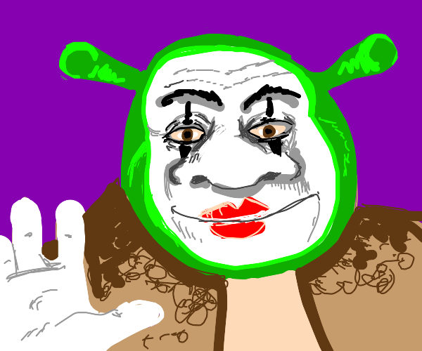 Shrek as a mime