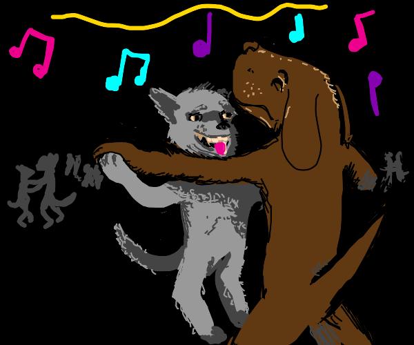 Doggos slow dancing