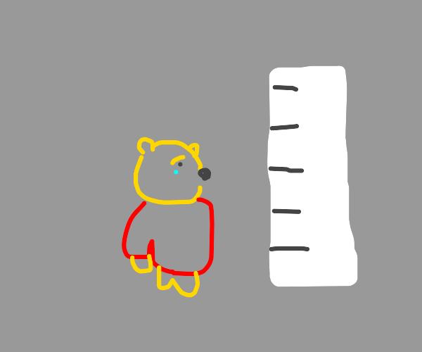 Winnie the Pooh hates being short